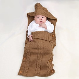 Simple Style Buttons Decoration Cotton Baby Sleeping Bag