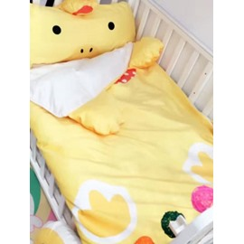Duck Shape Coral Velvet 3-Piece Yellow Baby Sleeping Bag