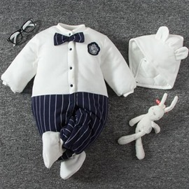 Bowknots Cotton Simple Style White Baby Sleeping Bag/Jumpsuit
