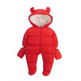 Animal Shape Cotton Red Baby Sleeping Bag/Jumpsuit
