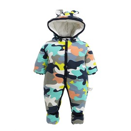 Camouflage Velvet Simple Style Baby Sleeping Bag/Jumpsuit