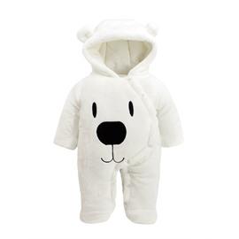 Polar Bear Flannel Simple Style White Baby Sleeping Bag/Jumpsuit