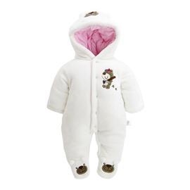 Bear Printed Flannel Simple Style Baby Sleeping Bag/Jumpsuit