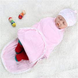 Zipper Cotton 1-Piece Light Pink Baby Sleeping Bag
