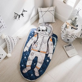 Astronaut Printed Cotton 1-Piece Baby Sleeping Bag