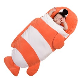Cute Small Fish Pattern Anti-Kicking Velvet Baby Sleeping Bag