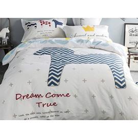 Popular Horse Pattern Kids 100% Cotton 4-Piece Duvet Cover Sets