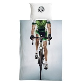 Cotton Material Handsome Biker Pattern 3 Pieces Boy Bedding Sets/Duvet Covers