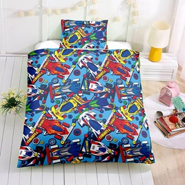Multi Color Racing Car Printed Boy 2PC/3PC Bedding Sets/Duvet Covers