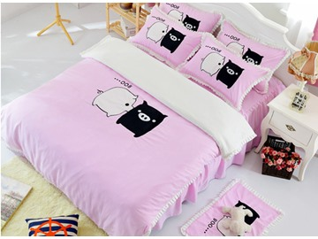 Super Cute Baby Pig Print Cotton Kids 3-Piece Duvet Cover Sets