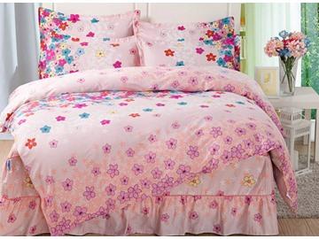 Cute Little Flowers Pattern Cotton Kids 3-Piece Duvet Cover Sets