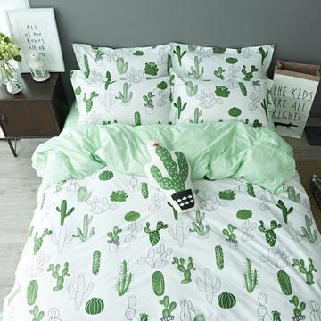 Cartoon Cactus 4 Pieces 100% Cotton Duvet Cover Sets