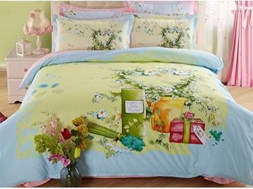 Lovely Country Style Kids Cotton 4-Piece Duvet Cover Sets