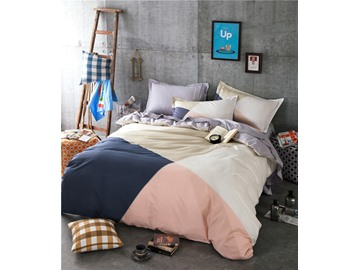 An Irregular Large Lattice Printed Cotton 4-Piece Bedding Sets/Duvet Cover