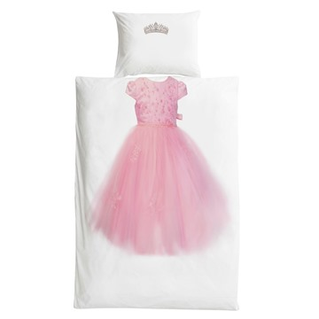 Creative Princess Dress Cotton Material Simple Design 3 Pieces Girl Bedding Sets/Duvet Covers