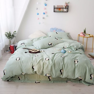 Cute Penguin Pattern Simple Design 4-Piece Kids Bedding Sets/Duvet Cover