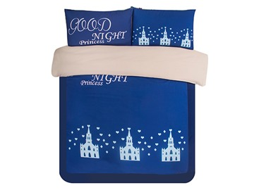 Castle in Night Print 3-Piece Skincare Duvet Cover Sets