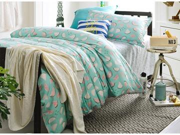 Lively Melon Pattern 3-Piece Purified Cotton Kids Duvet Cover Sets