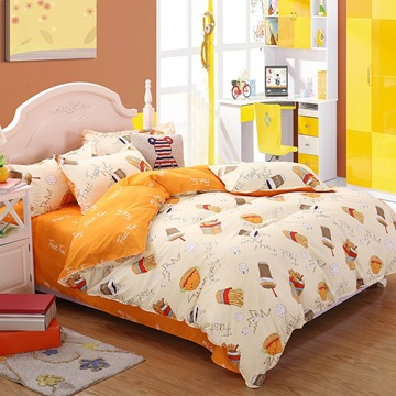 Breathable and Ultra Soft Cotton 4-Pieces Bedding Sets