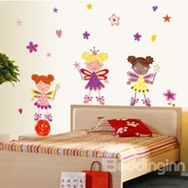 Cute Removable Cartoon Fancy Girls Wall Stickers