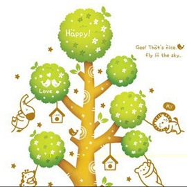 Top Sellinf Luminous Happy Tree Wall Stickers