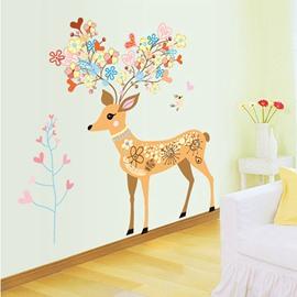 Christmas Lovely Cartoon Deer Nursery Removable Wall Sticker
