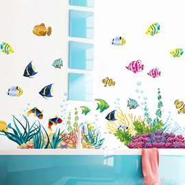 Lovely Cartoon Seaworld Wall Sticker for Baby&Kids