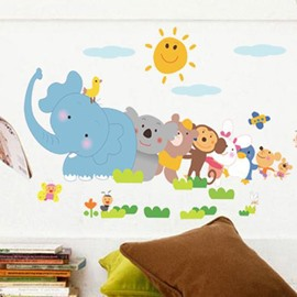 Happy Animal Wall Stickers for Children Room Decoration