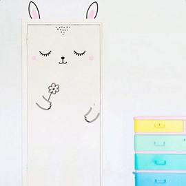 Cute Cartoon Rabbit Design Door or Wall Decal