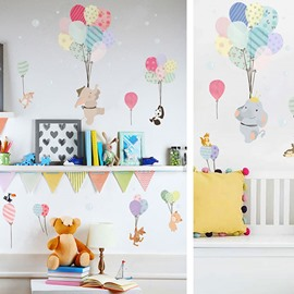 Removable Cartoon PVC 31'*55' Colorful Kids Wall Stickers