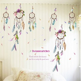 Durable Waterproof Dream Catchers PVC Kids Room Wall Stickers