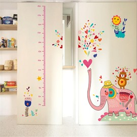 Durable Waterproof Spraying Elephant PVC Kids Room Height Ruler Wall Stickers