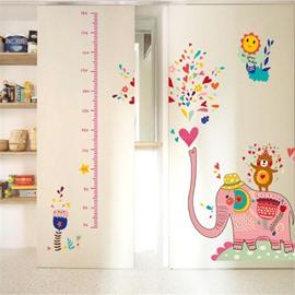 Durable Waterproof Spraying Elephant PVC Kids Room Height Ruler Wall Stickers