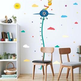 Durable Waterproof Flying Deer and Glider PVC Kids Room Height Ruler Wall Stickers
