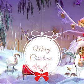 Durable Waterproof Hanging Christmas Gift PVC Kids Room Wall Stickers