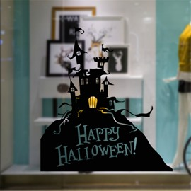 Durable Waterproof Halloween Castle PVC Kids Room Wall Stickers