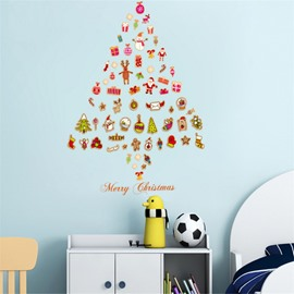 Durable Waterproof Christmas Gifts Tree PVC Kids Room Wall Stickers