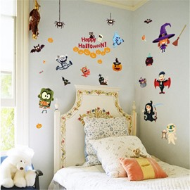 Durable Waterproof Ghosts PVC Halloween Kids Room Wall Stickers