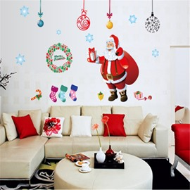 Durable Waterproof Santa and Gifts PVC Kids Room Wall Stickers