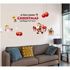 PVC Kids Room Durable Waterproof Hanging Christmas Gift Wall Stickers