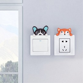 7 Pattern 3D Resin Material Cartoon Animal Shape Switch Removable Wall Sticker