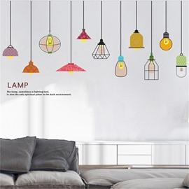 DIY Lamp Pattern Environment Friendly PVC Waterproof Living Room Kids Room Wall Sticker