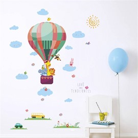 Cartoon Balloon Pattern Environment Friendly PVC Waterproof Living Room Kids Room Wall Sticker