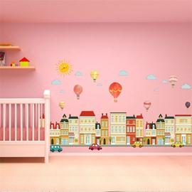 Environment Friendly PVC Waterproof Cartoon Balloon Kids Room Wall Sticker
