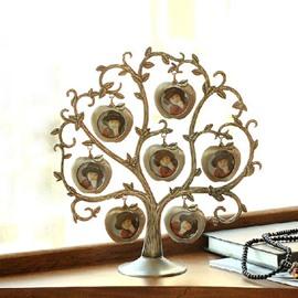 Elegant Creative Seven Apples and Tree Design Frame Ornament