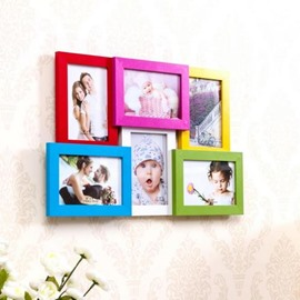 Wonderful Density Board 6-Piece Wall Photo Frame Set