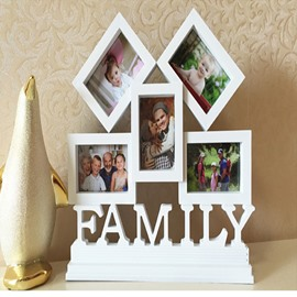 White Creative European style Family Photo Frame