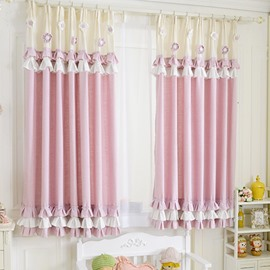 Princess Style Lovely Flower Decoration Girls Curtain