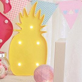 Cute Home Decor Pineapple Design LED Lamp
