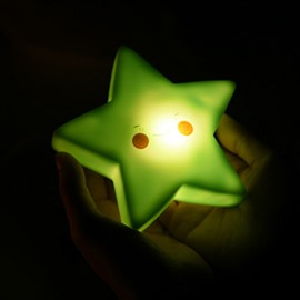 Star Shaped Plastic Multi-Color Kids Room Night Light